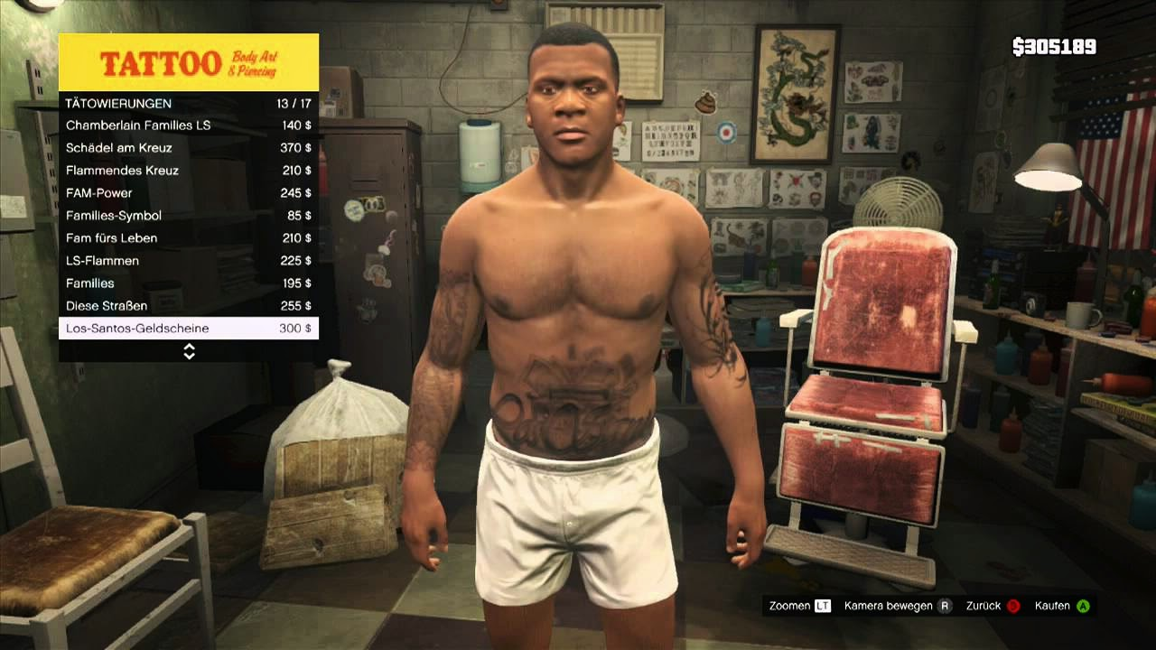 GTA 5 Unlock Tattoos | GTA 5 Cheat