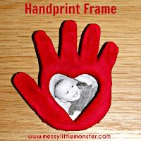 Salt dough handprint photo frame  - salt dough craft ideas for kids
