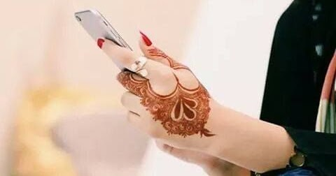Mehndi For Dp : Stylish girl mehndi hands dp for facebook sari info