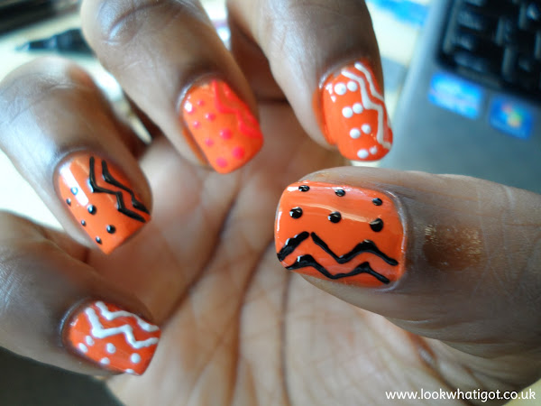 NAIL IT| 003 ORANGE TRIBAL NAILS