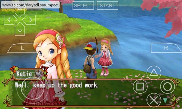 harvest moon hero of leaf valley psp game talking katie