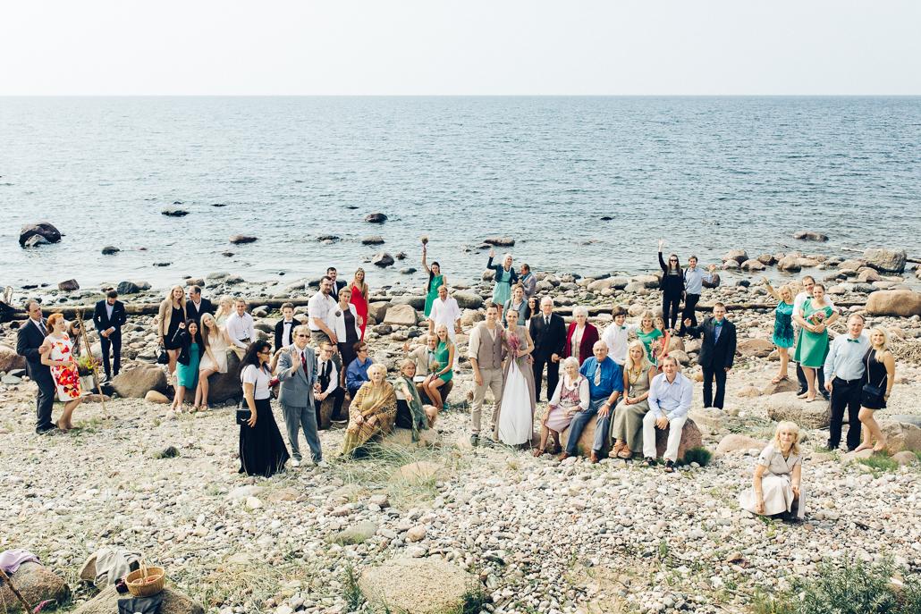 kāzu svinēšana pie jūras