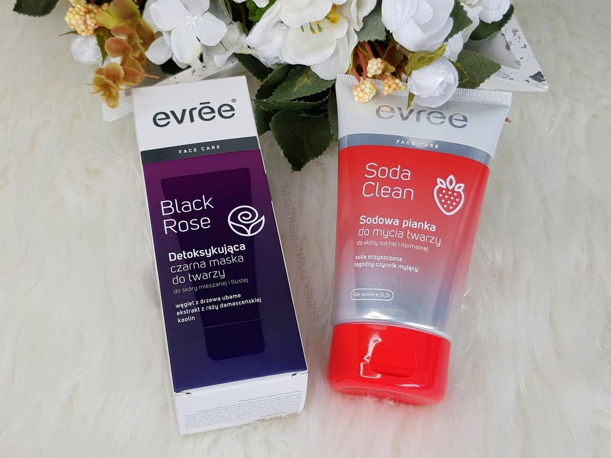 Co kupiłam na promocji na pielęgnację twarzy - Evree pasta Soda Clean, maska Black Rose
