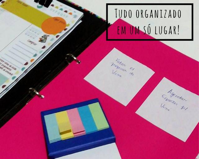 caderno de organização faça o seu