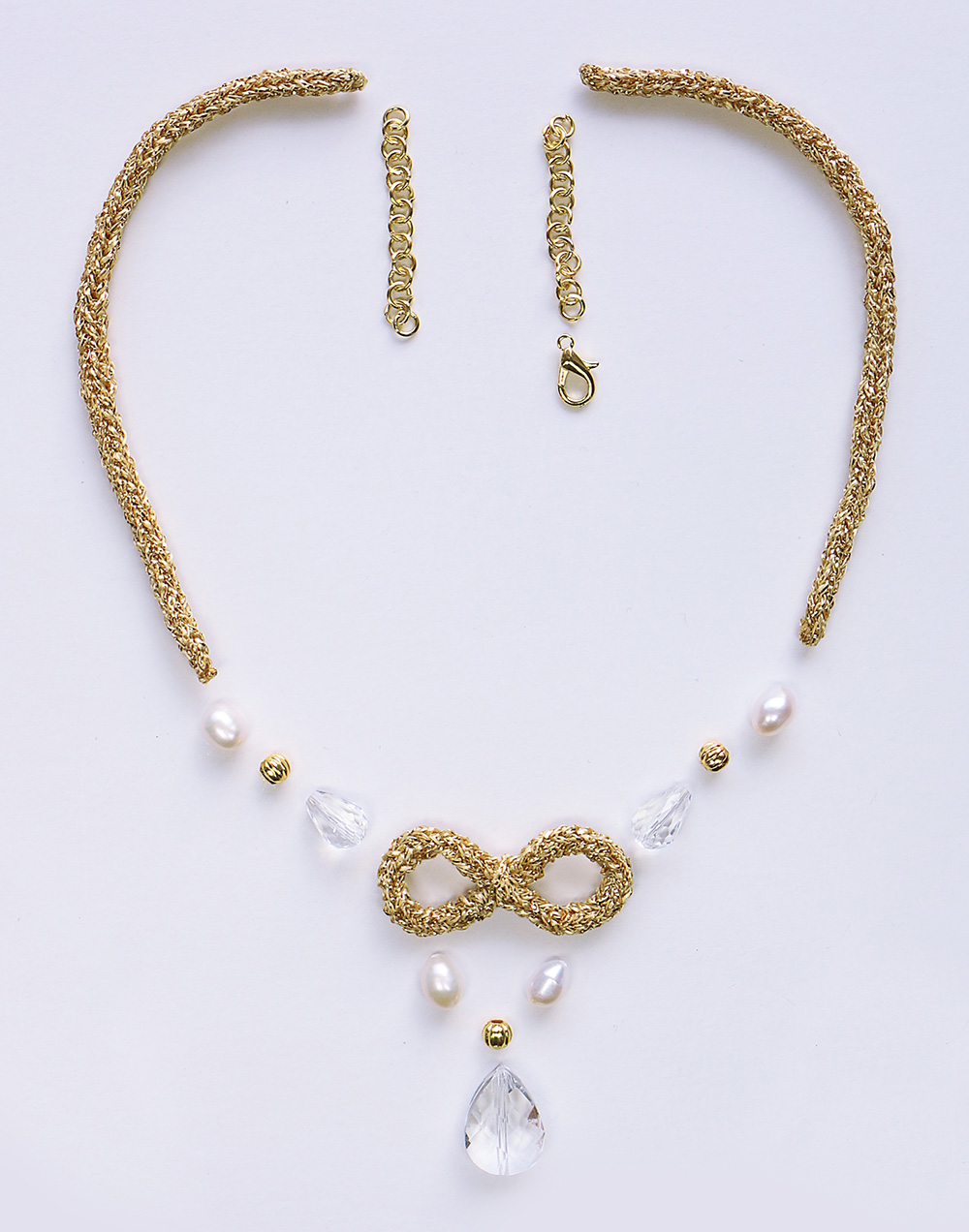 Infinite Tricotin Necklace components