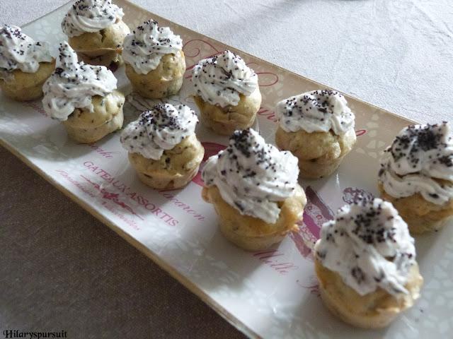 Cupcakes chèvre olive noire- Dans la cuisine d'Hilary
