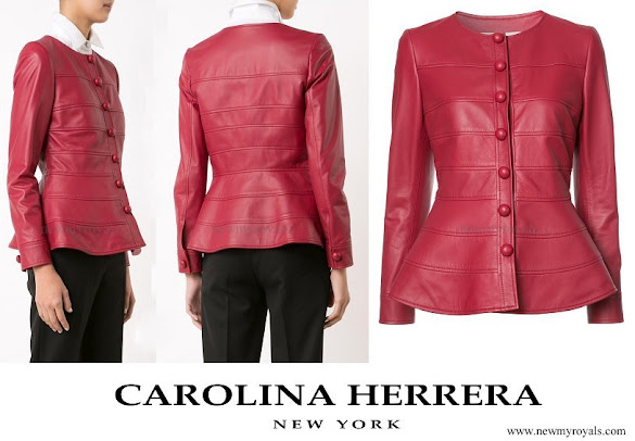 Queen Letizia wore CAROLINA HERRERA peplum jacket