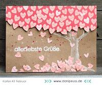 Kartenwind : Valentinskarte #kartenwind #valentinesday #love #tree #cardmaking #timholtz #distressmarker #grusskarte #danipeuss