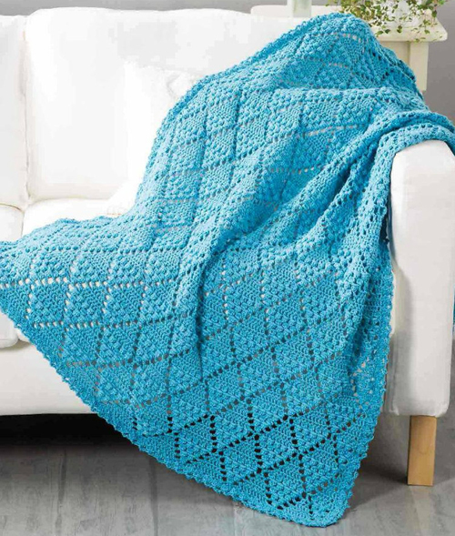Lace Throw - Free Crochet Pattern