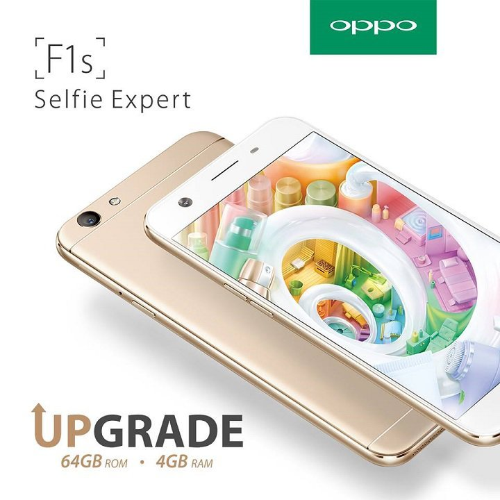 OPPO F1s Upgraded version with 4GB RAM and 64GB internal storage