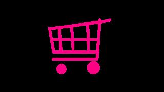 Desenho de Carrinho de compras rosa