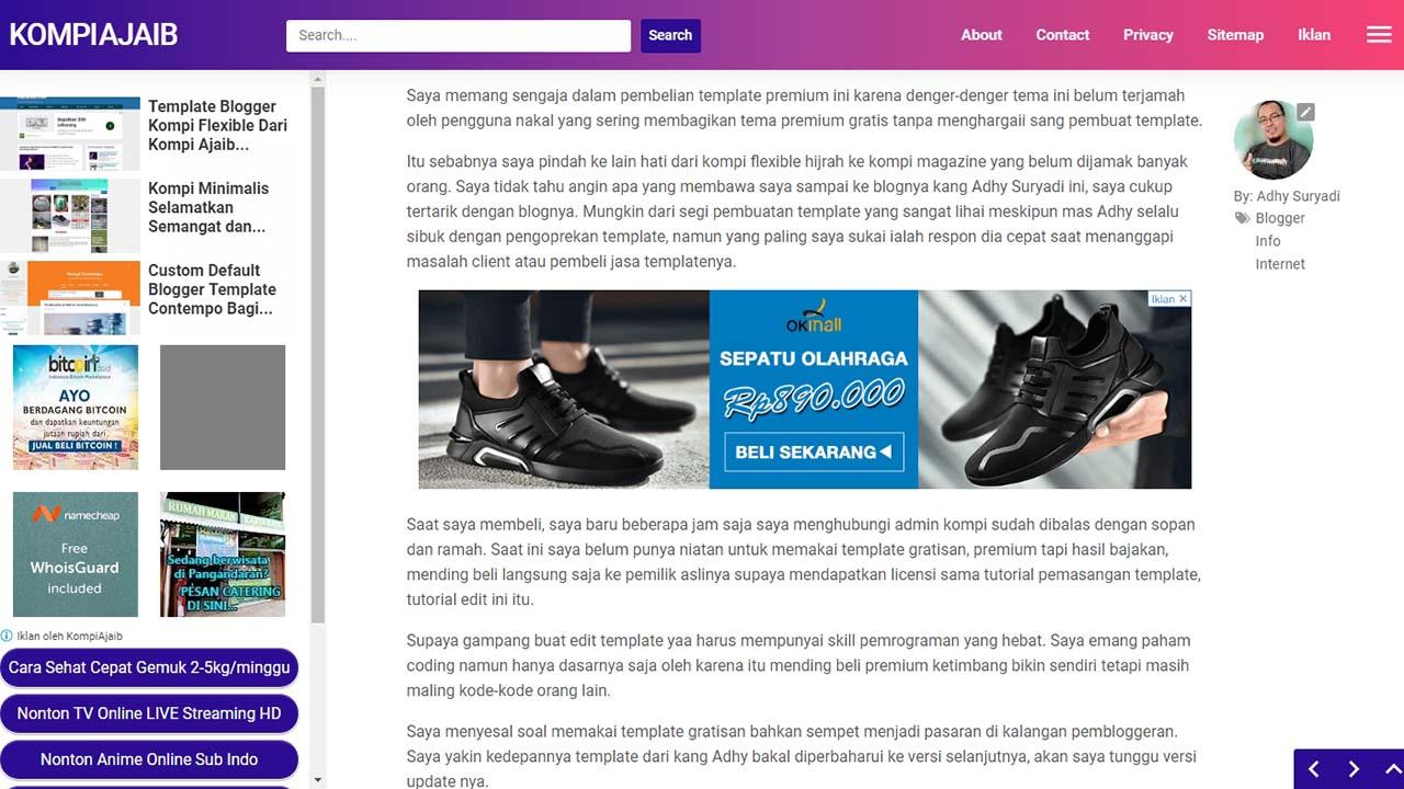 Solusi Iklan Di Tengah Artikel Dengan Auto Ads Di Blogger