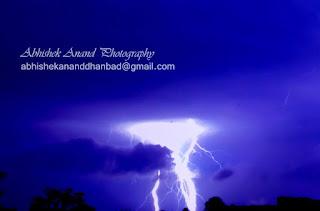 Thunder, lightning and cloud