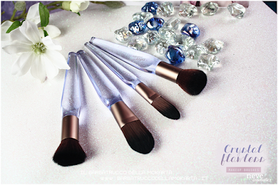 pennelli Crystal flat NeveCosmetics Crystal Flawless Brushes