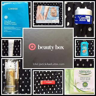 monthly beauty box, Target, hairspray, drugstore, ceraVe, Simple, Covergirl, Lanege, Pantene