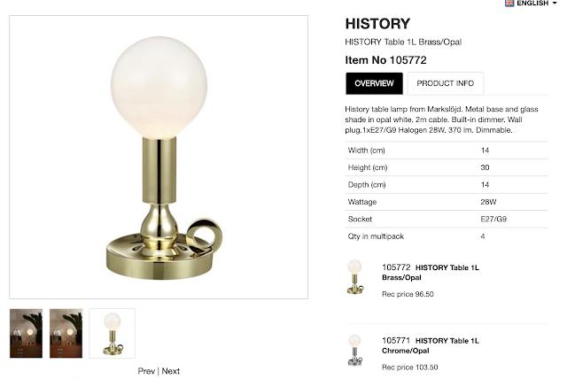 bordslampa, history, markslöjd