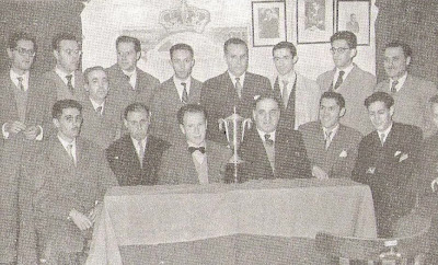 Ajedrecistas participantes en el Campeonato del Real Madrid CF 1955/56