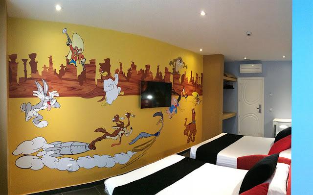 Habitación Warner con los Looney Tunes
