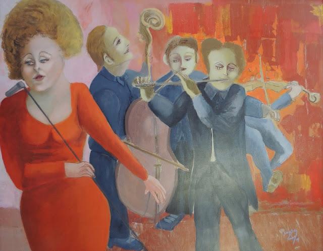 Obra de arte Sonja Sananes músicos, cantante