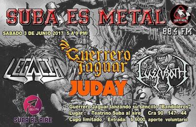 Lanzamiento Bandoleros por Guerrero Jaguar junto a Lusaroth, Legacia y Juday