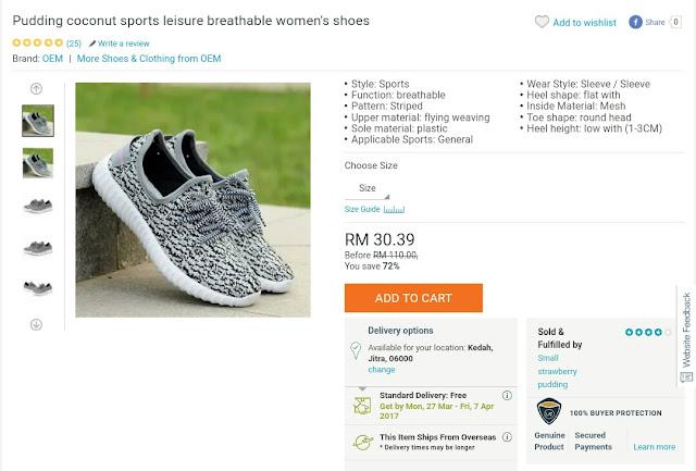 Sport shoe leisure lazada