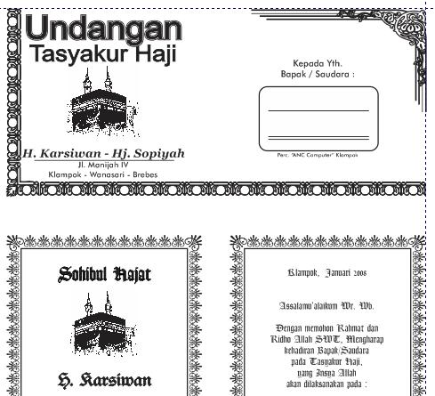 26+ Kumpulan Desain Undangan Tahlilan - Desain Interior ...