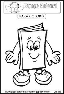 Desenho de livro para colorir
