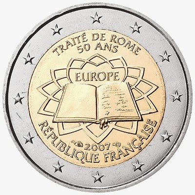 2 euro coins France 2007, Treaty of Rome