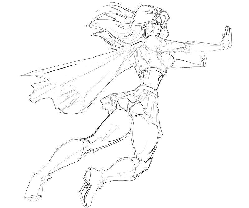 Supergirl Supergirl Super Hero How Coloring