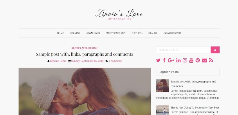 Zinnias Lite Free Blogger Template