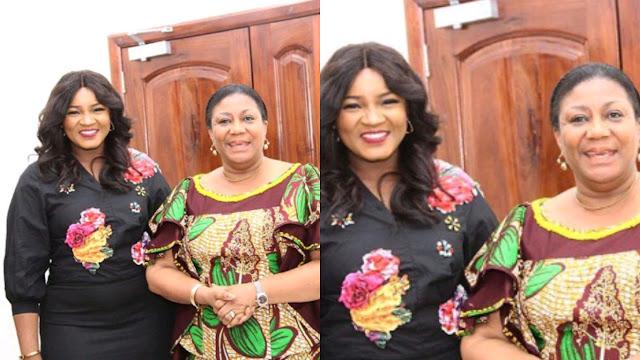 Omotola Jalade Meets Ghana First Lady, Rebecca Akufo-Addo