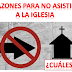 Razones Para No Asistir a la Iglesia - Power Point