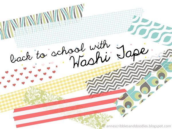 Back to School DIY Washi Tape