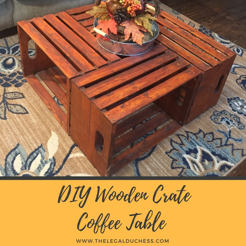 DIY Wooden Crate Coffee Table - The Legal Duchess
