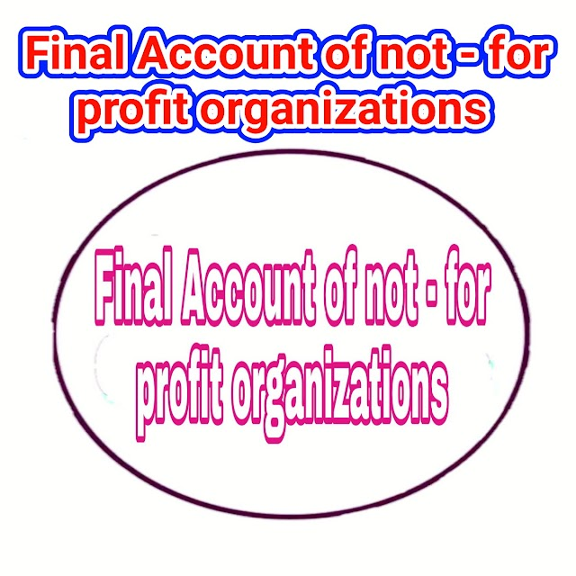 Final Account of not-for profit organizations,Not-for-profit organization