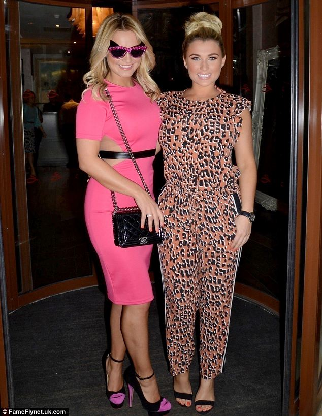 Black, Bright, Embellished, Faux Leather, Mesh, Midi Dress, Missguided, Pink, Sam Faiers, Sheer, Sunglasses, The Only Way Is Essex, TOWIE, Pink, Neon