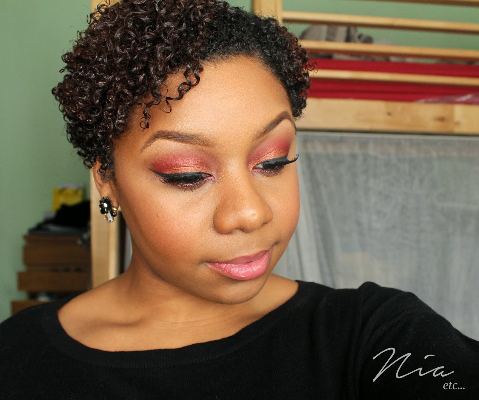 Summertime Orange and Red MakeUp Look 8