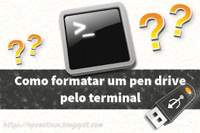 Como formatar um pen drive pelo terminal no Linux