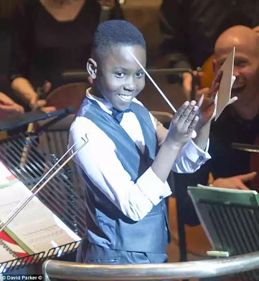 11yr old British boy of African descent is the country's youngest ever orchestra conductor