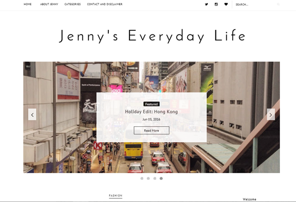Brand New Blog, Jennys Everyday Life, layout and design
