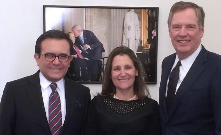 Mantener una comunicación permanente entre los tres Ministros, acuerdo de la reunión trilateral. (Foto: SE)