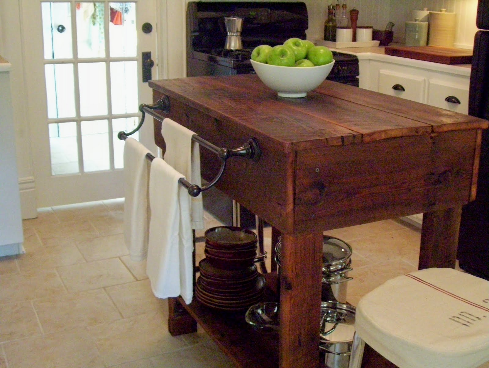 kitchen tables & more online store vintage home love how to build a rustic table island it was fun making this and i really think adds warmth our the bonus is provides storage for pots pans