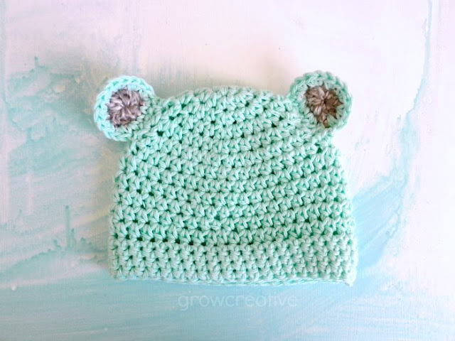 Crochet Mint Bear Hat: Grow Creative Blog