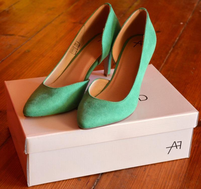 zalando buty, anna field, zielone szpilki, szpilki