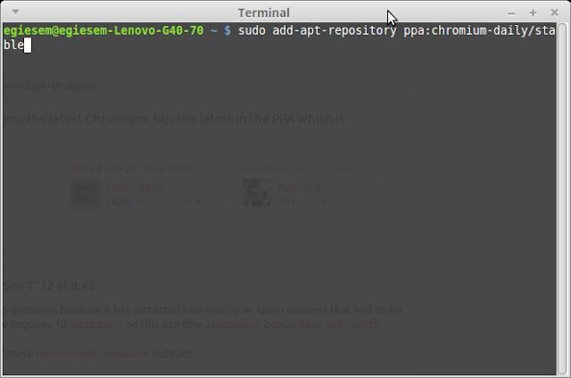 menambahkan repositori chromium di linux ubuntu