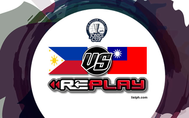 Video Playlist: Philippines vs Taipei B game replay July 15, 2018 Jones Cup