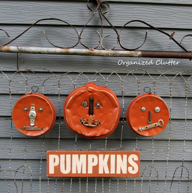 Junk Pumpkins: Upcycled Thrift Shop Cake Pans and Junk Drawer Parts
