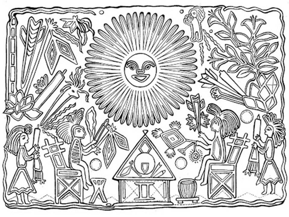 Dibujos De Mandalas Para Colorear Para Ninos: Pinto Dibujos: Mandalas De La Revolución Mexicana Para