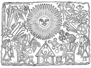Mandalas de la revolución mexicana para colorear