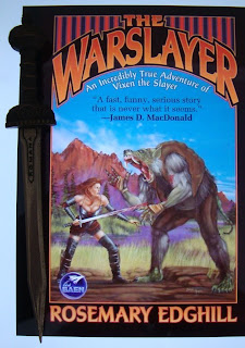 Portada del libro The Warslayer, de Rosemary Edghill